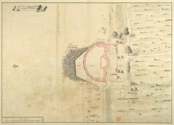 Plan of Cowes Castle in the Isle of Wight, 1725